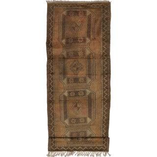 """MELIS Vintage Turkish Rug, 3'8"""" x 11'0"""" feet"""