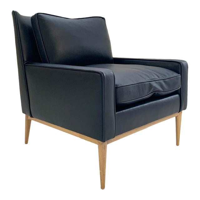 Paul McCobb for Directional Model 302 Lounge Chair in Loro Piana Bufalo Leather For Sale