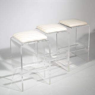Set of Three Swivel Bar Stools in Style of Charles Hollis Jones Preview
