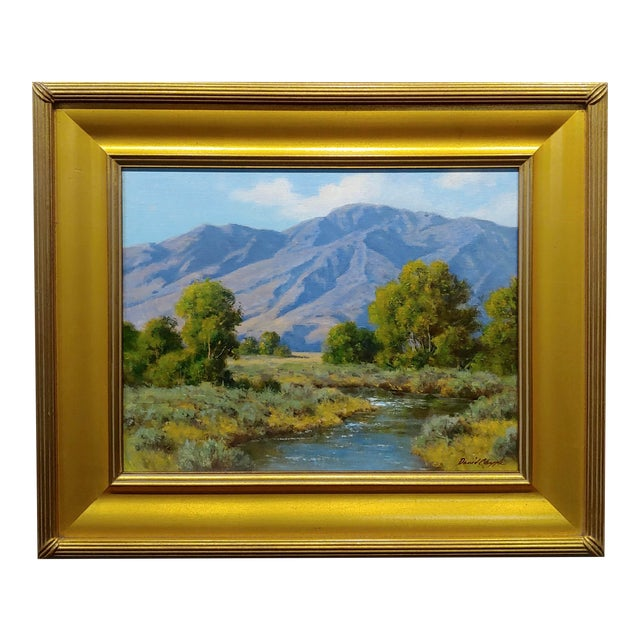 David Chapple -View of the Owens Valley - Oil Painting For Sale