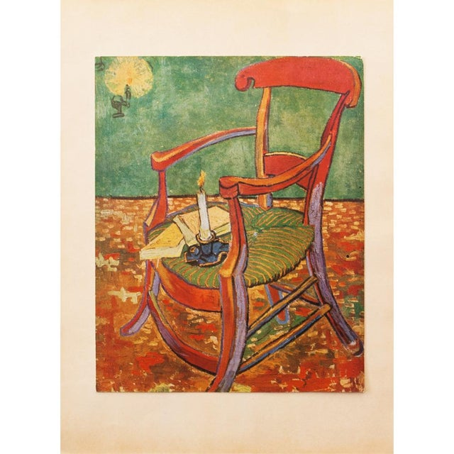 "C.1940s Van Gogh, ""Gauguin's Armchair"" Parisian Lithograph For Sale - Image 10 of 11"