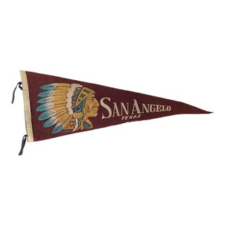 Early Travel Pennant San Angelo, TX Indian For Sale