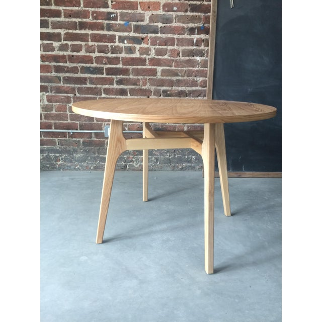 Mid-Century Modern Round Wood Table - Image 2 of 3