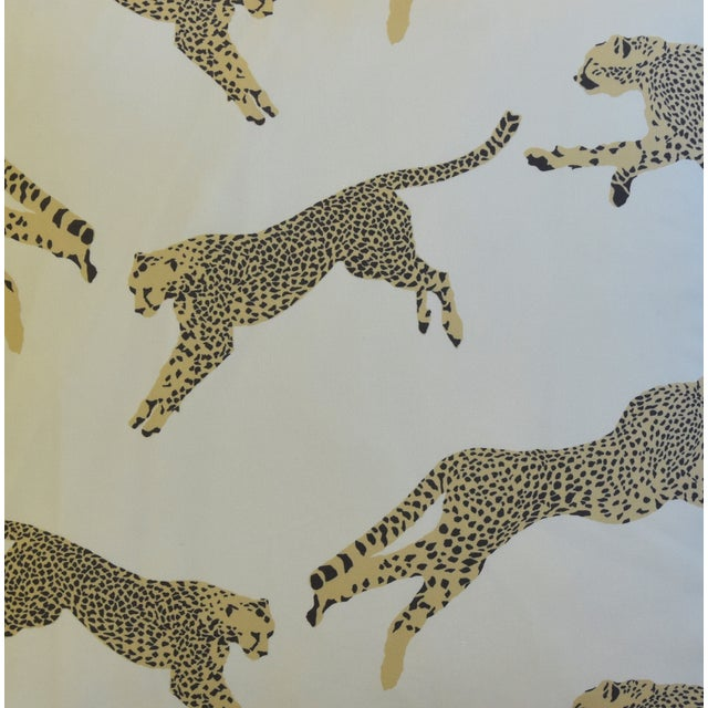 """Scalamandre Scalamandre Cheetah & Velvet Feather/Down Pillow 20"""" Square For Sale - Image 4 of 10"""
