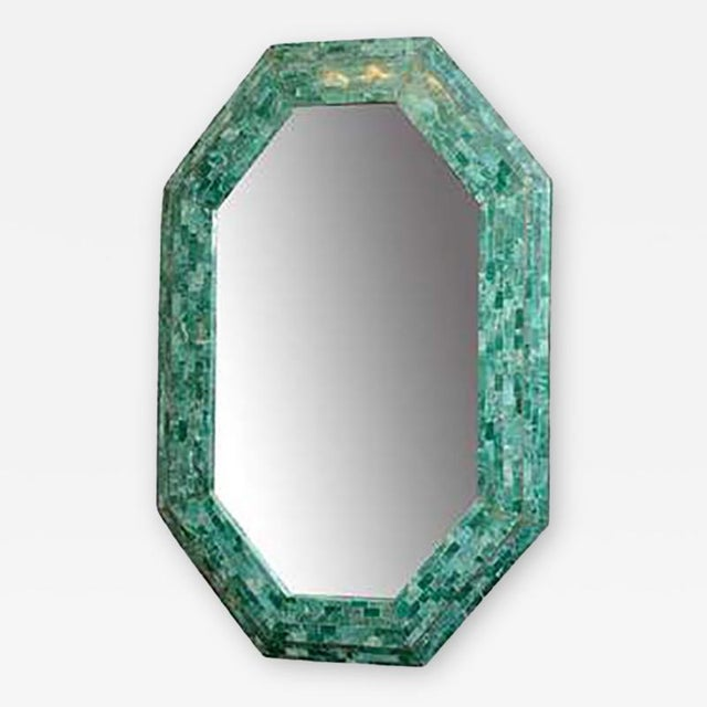 Maitland - Smith Emerald Maitland-smith Large Tessellated Marble Mirror For Sale - Image 4 of 4