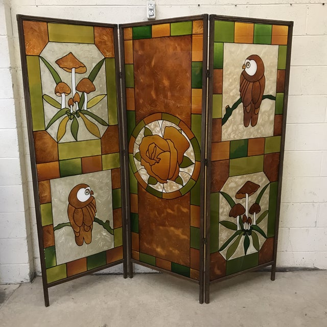 Mid Century Kitchy 3-Panel Screen Room Divider For Sale - Image 13 of 13