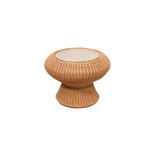 Isamu Kenmochi Rattan Side Table For Sale