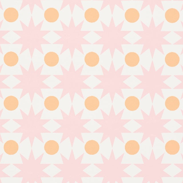 Schumacher Sample - Schumacher Cosmos Wallpaper in Pink For Sale - Image 4 of 5