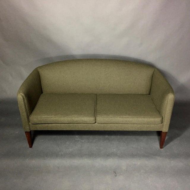Illum Wikkelsø 2-Seat Wool Sofa, Denmark 1960s For Sale In New York - Image 6 of 12