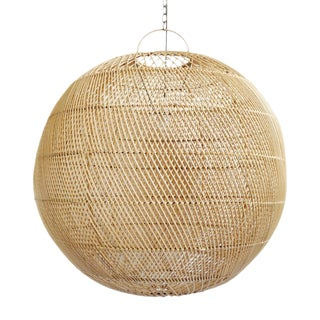 Rattan Moon Globe Lantern For Sale