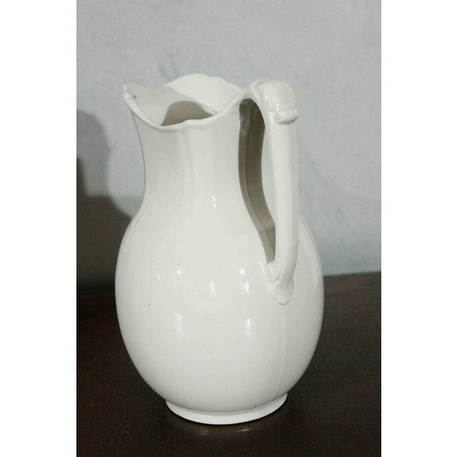 English 19th Century English White Ironstone Pitchers - Individual For Sale - Image 3 of 9