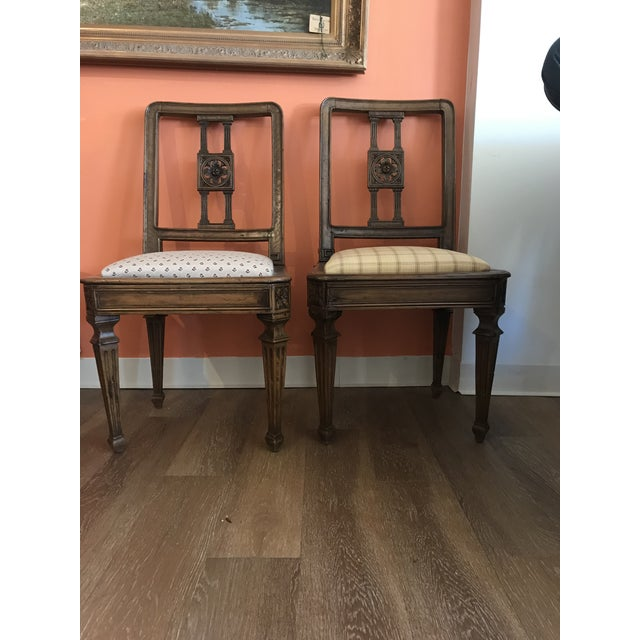 19th Century Walnut Side Chairs - a Pair For Sale - Image 12 of 12