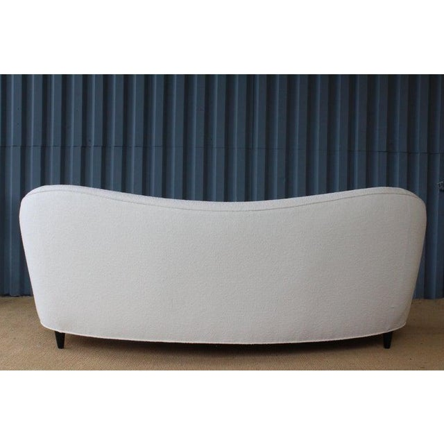 Modern Curved Boucle Sofa, Italy, 1960s For Sale - Image 9 of 13
