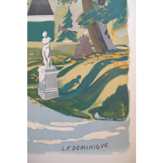 Country Vintage 1945 French Travel Poster, Ile De France For Sale - Image 3 of 5