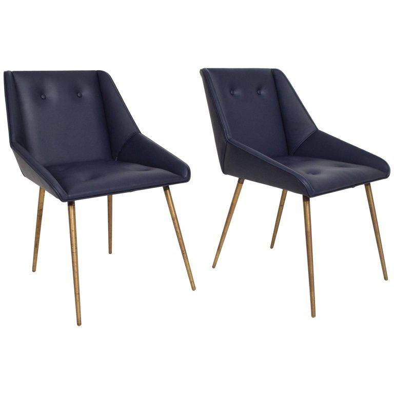 Midcentury Mexican Modernist Leather Chairs In Gio Ponti Style, 1950s For  Sale   Image 10