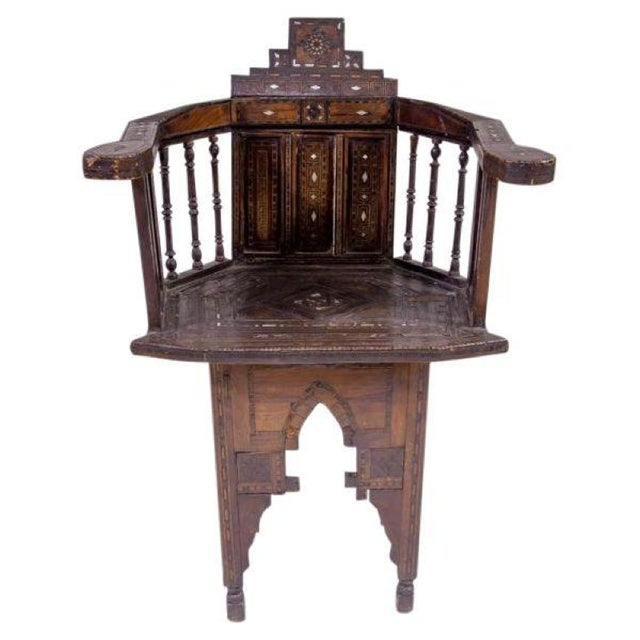 Moroccan Inlaid Chair - Image 1 of 4