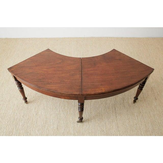 George III Regency Mahogany Wine Tasting Flip-Top Table For Sale In San Francisco - Image 6 of 13