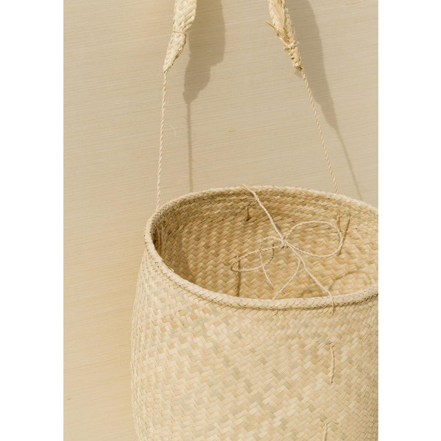 Boho Chic Oaxaca Palm Basket With Strap For Sale - Image 4 of 6