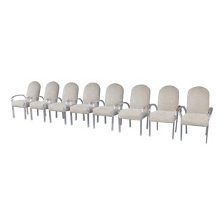 Modern Lucite Arms Dining Chairs-Set of 8 For Sale