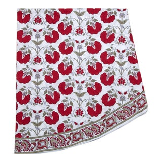 Janvi Round Tablecloth - Red For Sale
