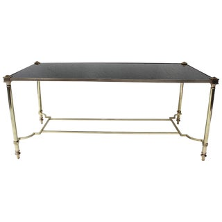 Bronze and Glass Coffee Table by Maison Jansen For Sale