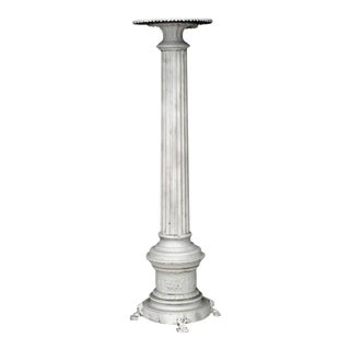 Outdoor Painted Column Pedestals For Sale