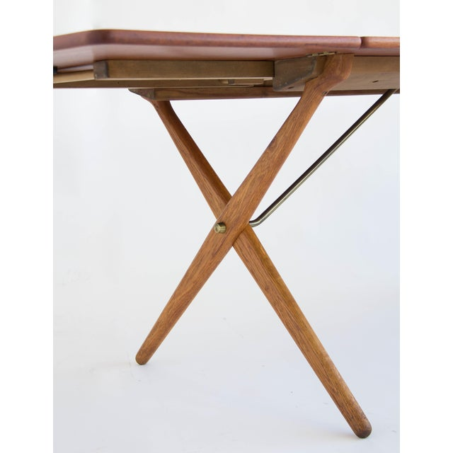 Hans j wegner cross leg dining table chairish hans j wegner cross leg dining table image 9 of 11 watchthetrailerfo