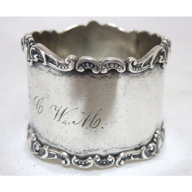 International Silver Antique Victorian Sterling Silver Napkin Ring For Sale - Image 4 of 6