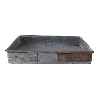 Reclaimed Metal Tray For Sale