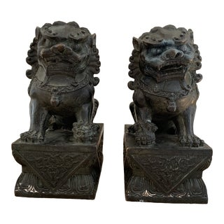Vintage Bronze Chinese Foo Dogs For Sale