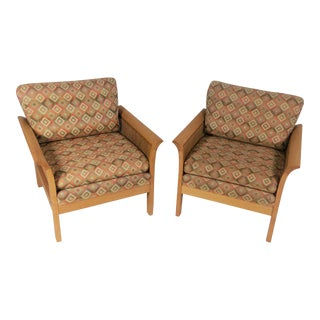 Arne Norell Sweedish Rotang Lounge Chairs - a Pair For Sale