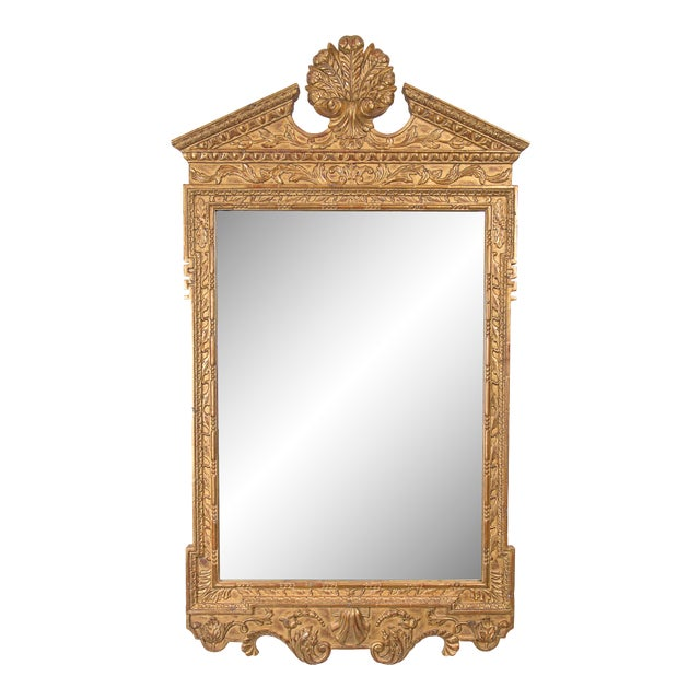 Late 20th Century Georgian Style Hand-Carved and Gilt Mirror For Sale