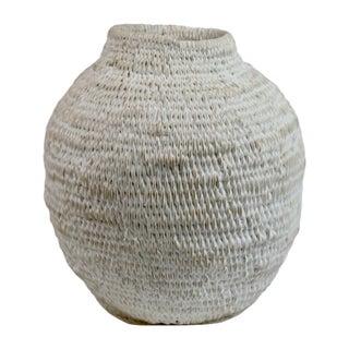 Restoration Hardware African White Wash Gourd Medium Basket For Sale
