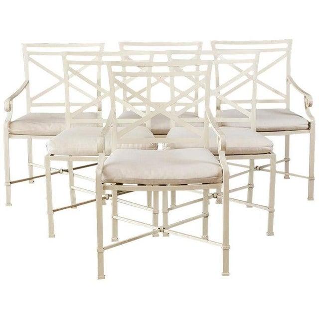 Set of Six Brown Jordan Aluminium Patio Garden Chairs For Sale - Image 13 of 13