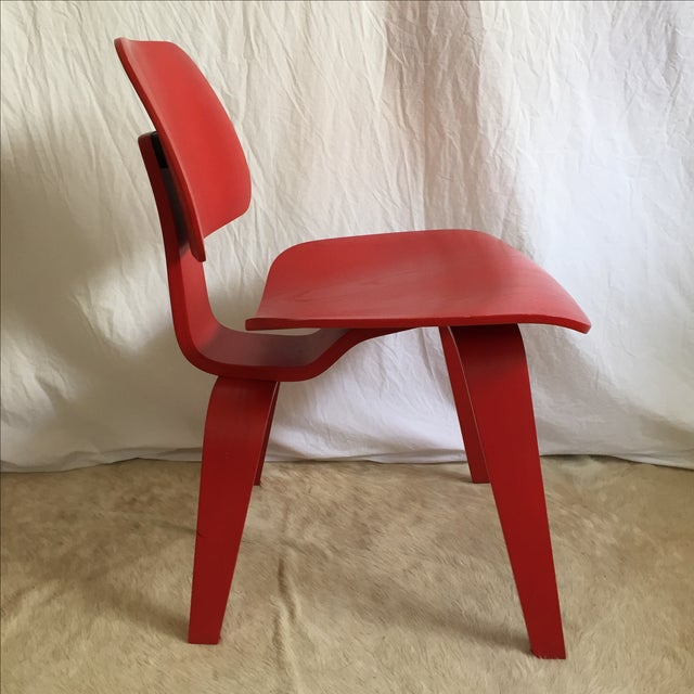 Eames DCW From Herman Miller Red Dining Chair For Sale - Image 7 of 9