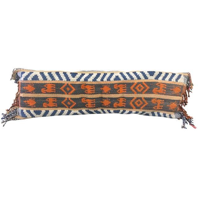 1970s Kilim Wool Lumbar Pillow For Sale