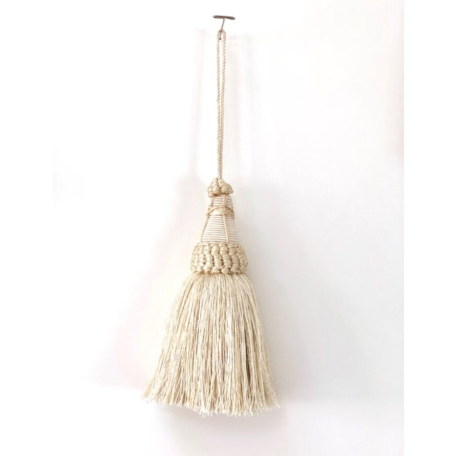 Key Tassel in Cream With Looped Ruche Trim For Sale - Image 11 of 11