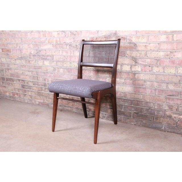 1950s John Van Koert Mid-Century Modern Restored Walnut Dining Chairs, Set of Ten For Sale - Image 5 of 13