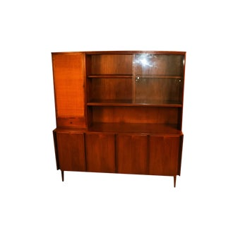 American of Martinsville Mid Century China Cabinet Hutch For Sale