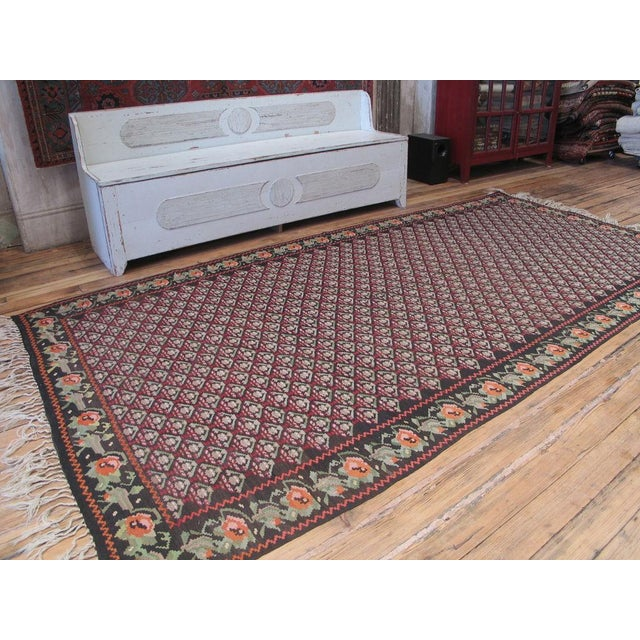 Vintage Kilim from Karabagh, Armenia. Very good quality and in excellent condition. Dated 1949 at the top left corner.