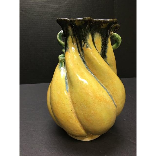 Art Nouveau Art Nouveau Maggie and Freeman Jones Turtle Island Pottery Vase For Sale - Image 3 of 6