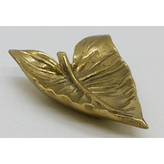 """Virginia Metalcrafters Virginia Metalcrafters """"Calla Lily"""" Leaf Dish For Sale - Image 4 of 7"""