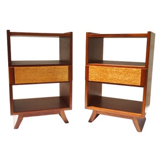 Saarinen Modern Rway Bedside Cabinets - A Pair