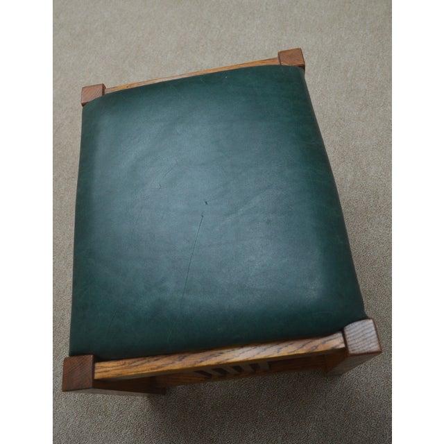 Mission Stickley Oak Morris Chair W/ Ottoman - 2 Pieces For Sale - Image 11 of 13