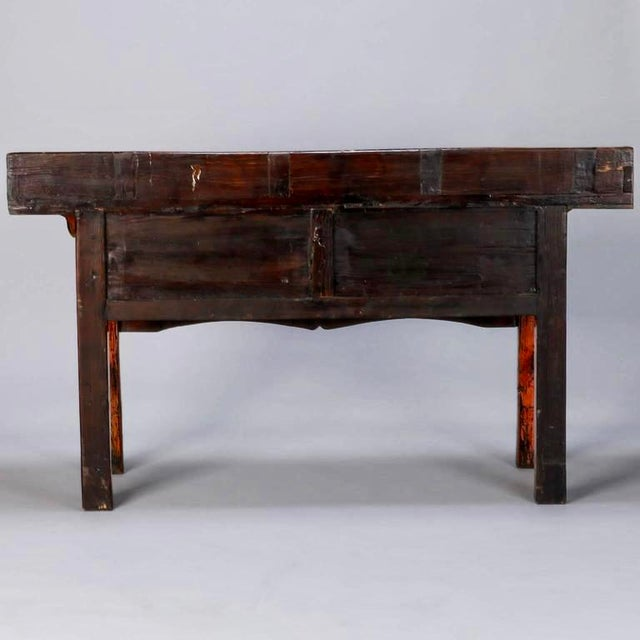 Chinese Painted and Lacquered Three-Drawer Console Table For Sale - Image 9 of 11