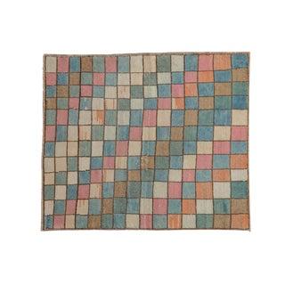 "Vintage Distressed Oushak Square Rug - 3'2"" X 3'8"" For Sale"
