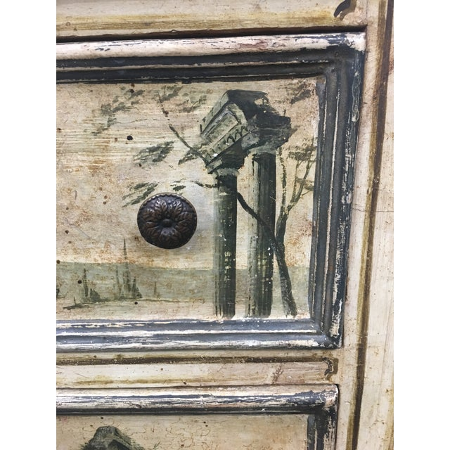 Italian 19th C Venetian Petite Painted Chest of Drawers - Commode For Sale - Image 3 of 12