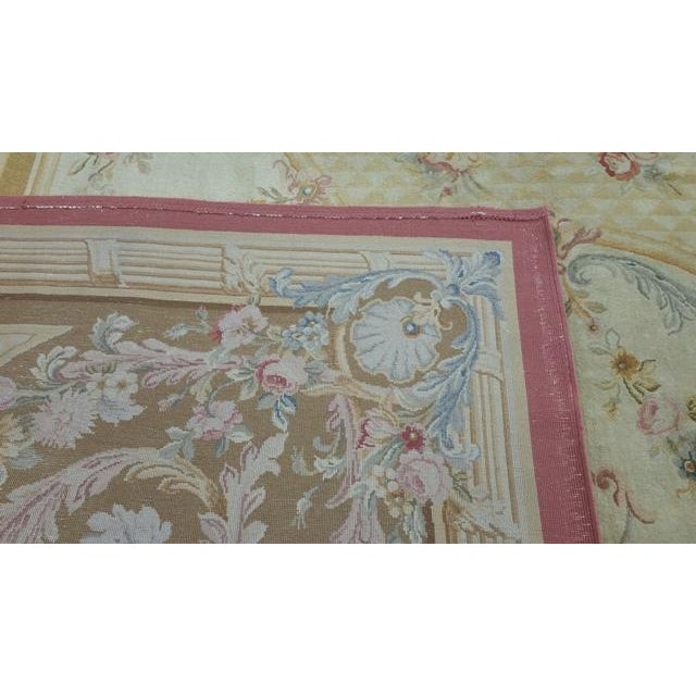 14'x19' Aubusson Design Hand Made Knotted Rug - Size Cat. 12x18 13x20 - Image 12 of 12
