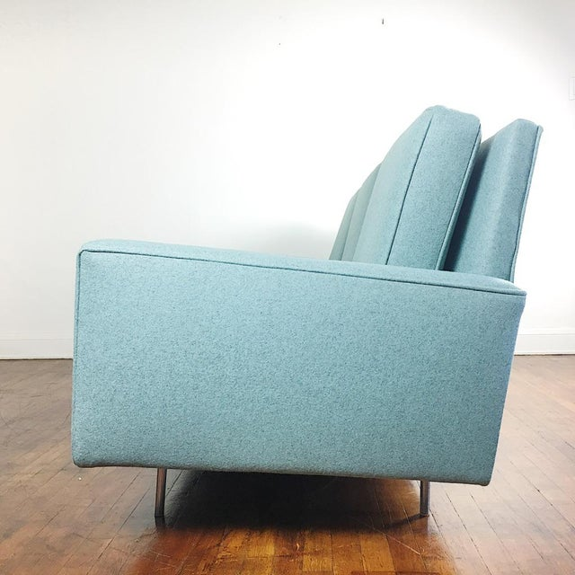 Aluminum Blue Florence Knoll Sofa For Sale - Image 7 of 11