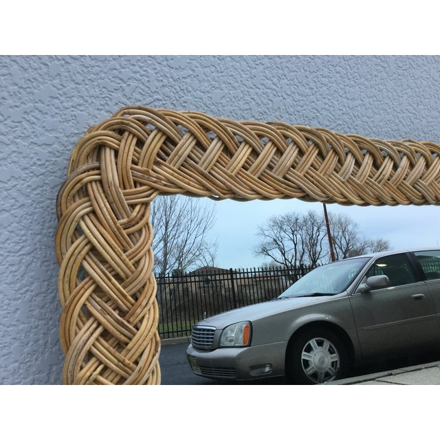 1960's Modern Rattan Mirror - Image 5 of 7